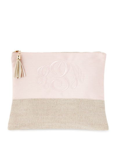 Pink Large Linen Pouch
