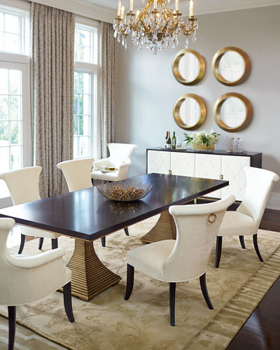 Jet Set Double Pedestal Table