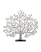 Tree of Life Silvery Fireplace Screen