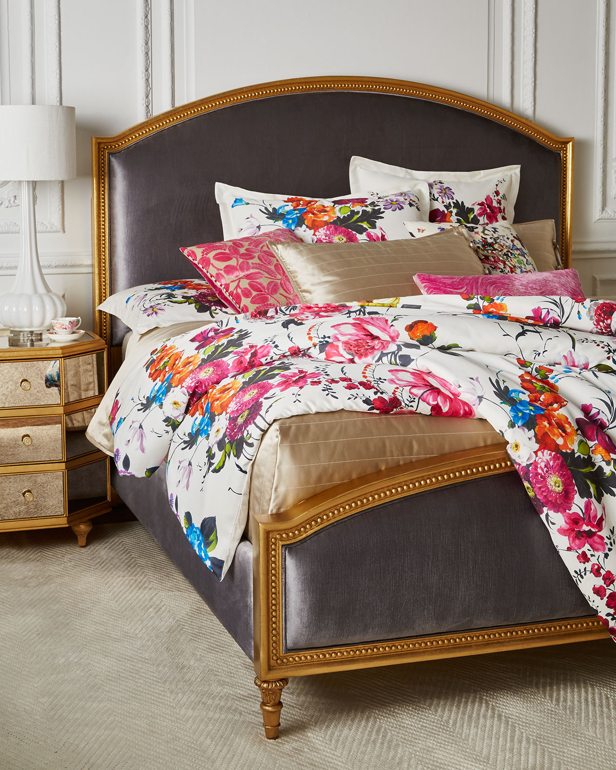 Cynthia Rowley For Hooker Furniture Antoinette California King Gilded