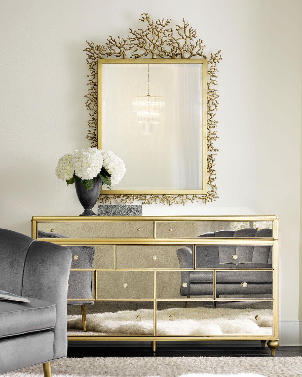 'Cynthia Rowley For Hooker Furniture Bewitch Mirrored Dresser