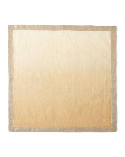 Ivory/Natural Dip Dye Napkin
