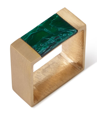 Gem Block Napkin Ring