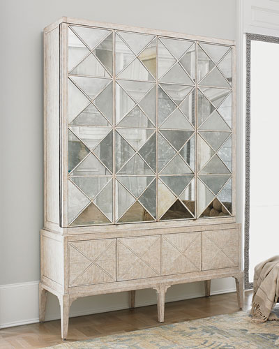 Haldis Mirrored Entertainment Cabinet