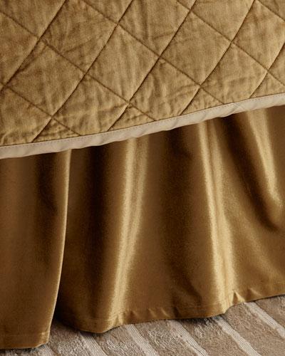 Queen/King Chloe Velvet Dust Skirt