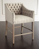 Pepper Tufted Counter Stool