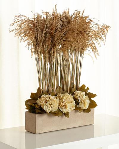 Congo Grass Faux-Floral Arrangement