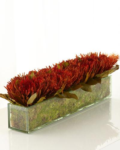 Blazing Protea Faux-Floral Arrangement