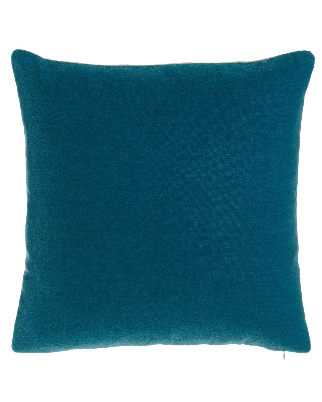Bach Peacock Mohair Pillow