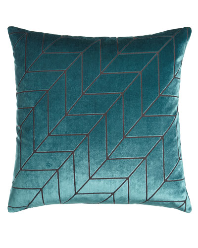 Modern Twist Blue Pillow