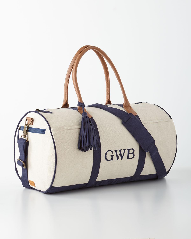 Navy Monogrammed Duffel Luggage