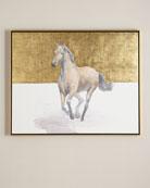 """""""Golden Dame"""" Horse Giclee"""