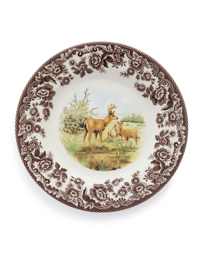 Woodland Deer Salad Plates, Set of 4