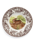 Woodland Rabbit Dinner Plates, Set of 4