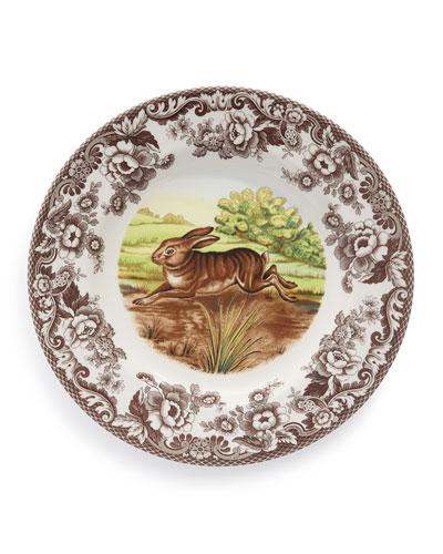 Woodland Rabbit Dinner Plates, Set of 4