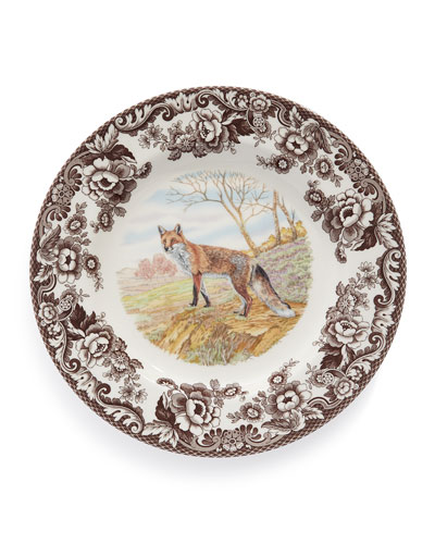 Woodland Fox Dinner Plates, Set of 4