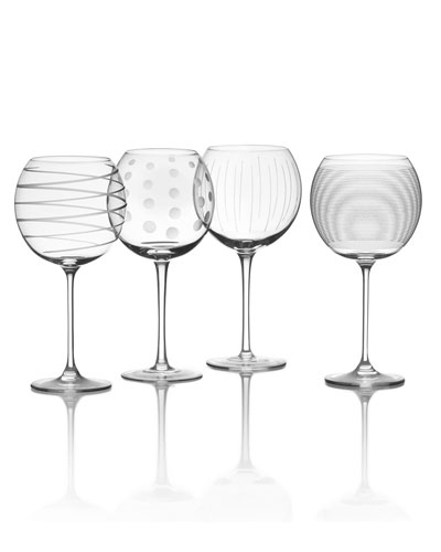 Cheers Balloon Goblets, 4-Piece Set