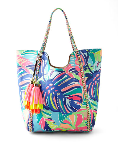 Exotic Garden Reversible Pool Tote