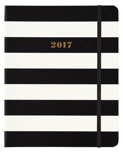 Black Stripe 2017 Large Agenda