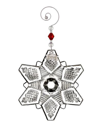 2016 Annual Snow Crystal Pierced Christmas Ornament