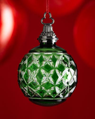 Green Cased Ball Christmas Ornament