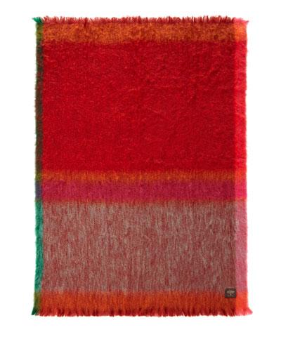 Mantas Ezcary Rozco Red / orange Mohair Throw