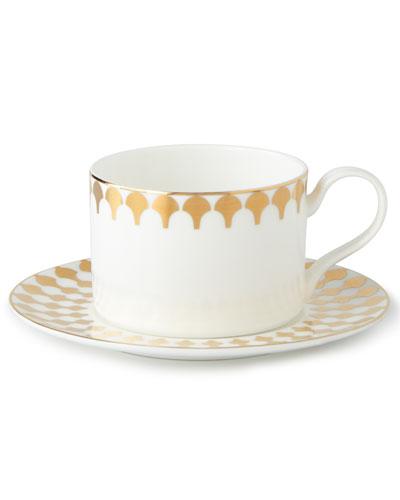 Zelda Teacups & Saucers, Set of 4