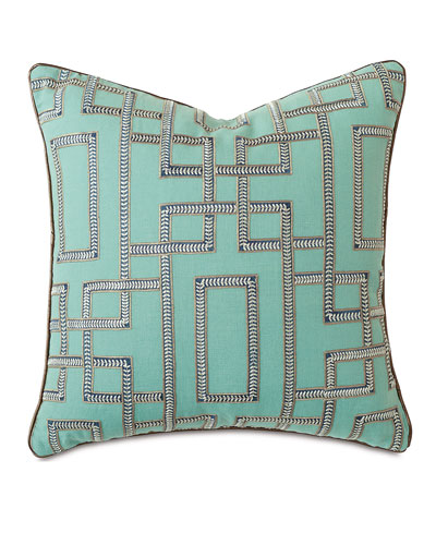 Hudson Turquoise Pillow, 22
