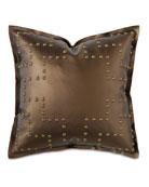 """Hudson Nailhead Pillow, 18""""Sq."""