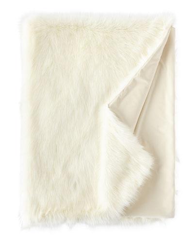 Pearl Shag Faux-Fur Throw, 58