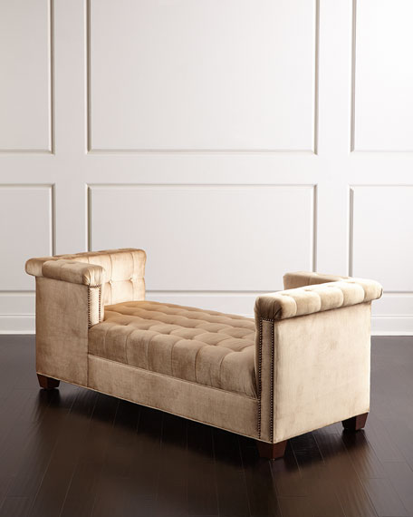 Haute House Majestic Tufted Wedge Chaise