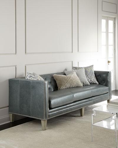 McQueen Leather Sofa 90