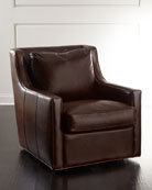Salina Leather Swivel Chair
