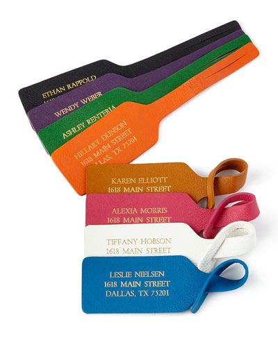 personalized luggage tag neiman marcus