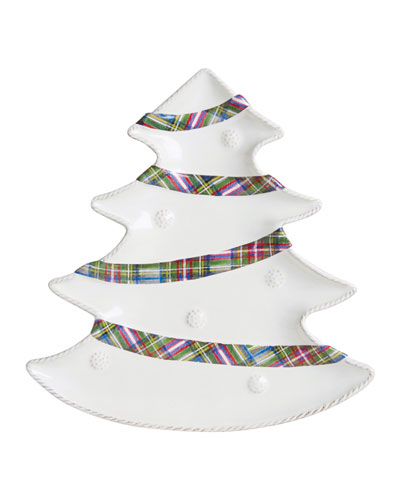 Berry & Thread Christmas Tree Party Plate