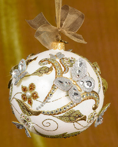 Floral Scroll Christmas Ornament
