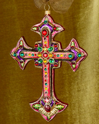 Jewel Cross Christmas Ornament