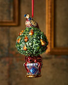 Jay Strongwater Partridge-in-a-Pear Tree Christmas Ornament