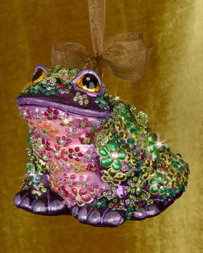 Mille Fiori Frog Christmas Ornament