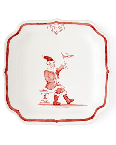 Country Estate Ruby Reindeer Games Santa Party Plate