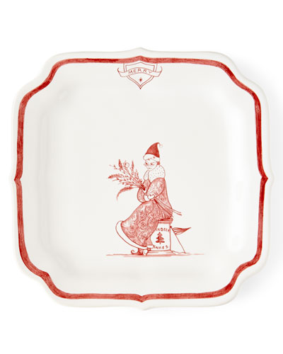 Country Estate Ruby Reindeer Games Merry Party Plate