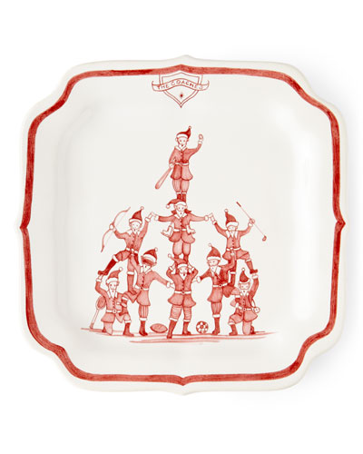 Country Estate Ruby Reindeer Games Coaches Party Plate
