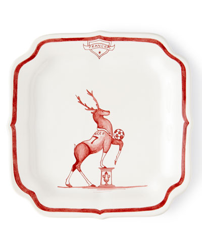 Country Estate Ruby Reindeer Games Prancer Party Plate