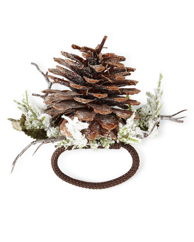 Winter Pine Cone Napkin Ring
