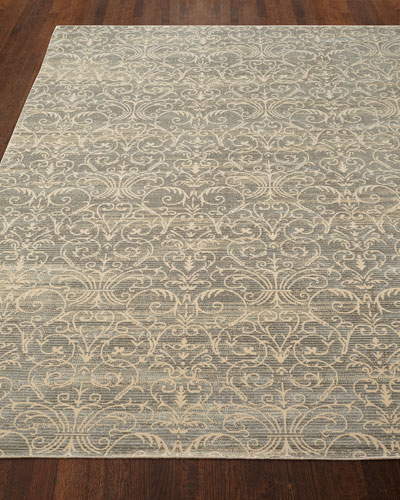 Courtly Blue Rug, 5'3