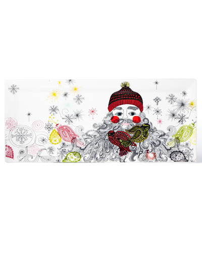 Holiday Collection Santa Hostess Tray
