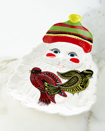 Holiday Collection Santa Platter