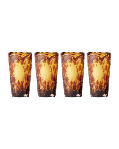 El Jefe Tall Shot Glasses, Set of 4