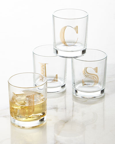 Monogrammed Double Old-Fashioned Glasses