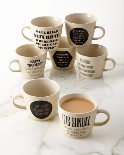 Weekday Mugs, 7-Piece Set